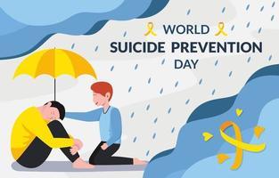 caricature de la journée mondiale de la prévention du suicide vecteur