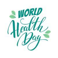 Illustration vectorielle de santé mondiale. vecteur