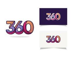 360 concept de conception de logo moderne. vecteur