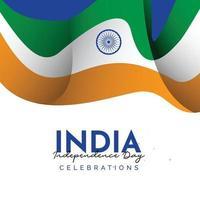 modèle de bannière de la fête de l'indépendance de l'inde. vecteur