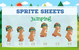 Sprite Sheet Bear Sauter