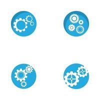 engrenage logo modèle icône design vecteur