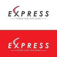 vecteur d'illustration de modèle de conception de logo de livraison rapide