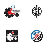 modèle de vecteur de conception de logo de technologie d'entreprise