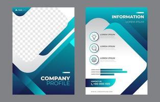 modèle de profil d'entreprise vecteur