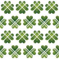 Modèle sans couture tartan Saint Patrick vecteur