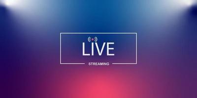 streaming en direct background.loading, lecteur, diffusion, site Web, vecteur