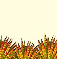 Thème de la nature avec des feuilles colorées