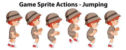 Actions de jeu de sprite - sauter