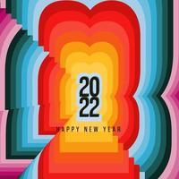 bannière du nouvel an bannière rétro 2022 vecteur