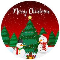 Carte de joyeux Noël rouge