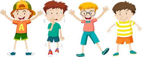 Un ensemble d'expressions d'enfants