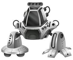 Un robot moderne sur fond blanc vecteur