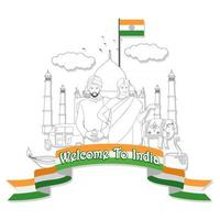 bienvenue en Inde vecteur