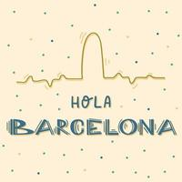 hola barcelona type pour votre conception. vecteur
