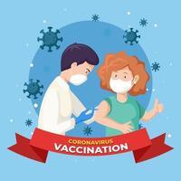 concept de vaccination contre le coronavirus vecteur