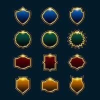 ensemble d'éléments d'insigne de cadre vecteur