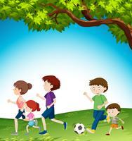 Activité familiale au parc