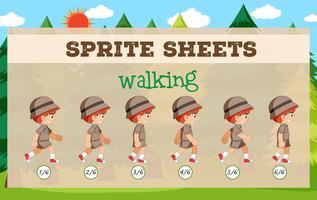 Sprite Sheet Boy marcher