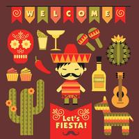 Vecteur sertie de symboles mexicains traditionnels.