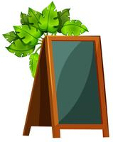 Un tableau de menu vide avec des plantes vecteur