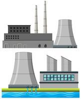 Ensemble de bâtiments d'usine vecteur