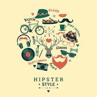 Illustration vectorielle design plat de style hipster.