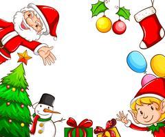 Cadres avec décors de Noël