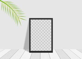 Maquette de cadre carré réaliste 3D vecteur