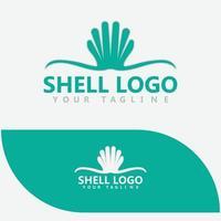 perle de coquillage, huître, fruits de mer, création de logo de restaurant vecteur
