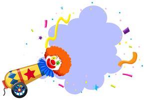 Un modèle de clown de cirque coloré vecteur