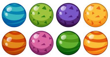 Perles rondes de design différent vecteur