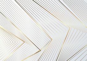 triangles abstraits lignes dorées luxe sur fond blanc. vecteur