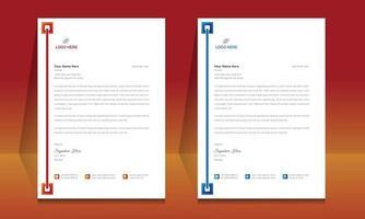modèle de format de papier à en-tête, modèle de conception de papier à en-tête de style professionnel. vecteur