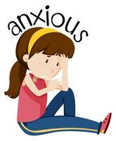 Une fille ayant anxieux vecteur