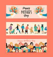 Bonne fête des mères. Modèles de vecteur.