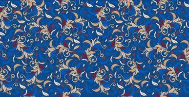 illustration de boucles de décoration florale. ornement vintage, motif. vecteur