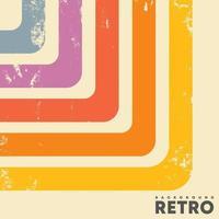 arrière-plan design rétro et texture grunge vintage et rayures colorées vecteur