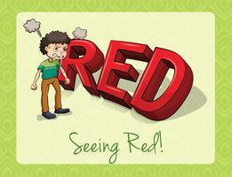 Voyant rouge vecteur