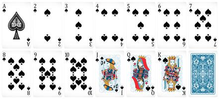 Cartes de poker vecteur
