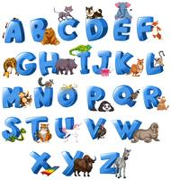 Lettre Aphabet de A à Z vecteur