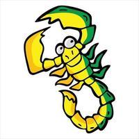 illustration de dessin animé de personnage de scorpion vecteur