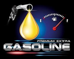 logo essence avec concept de goutte d'huile vrctor vecteur