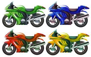 Quatre superbikes vecteur