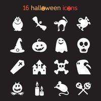 jeu d'icônes d'halloween vecteur