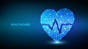 concept de soins de santé, de médecine et de cardiologie. icône de coeur vecteur