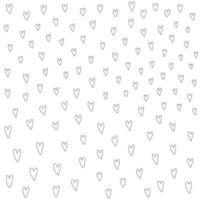 peinture au pinceau de cadre en forme de coeur, conception dessinée à la main saint valentin vecteur