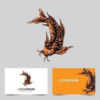 illustration du logo de la mascotte des poissons koi vecteur