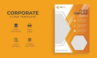 modèle de flyer business format a4 pro vecteur