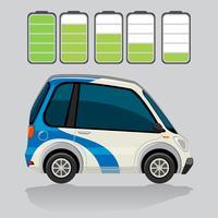 Niveaux de voiture et de batterie électriques vecteur
